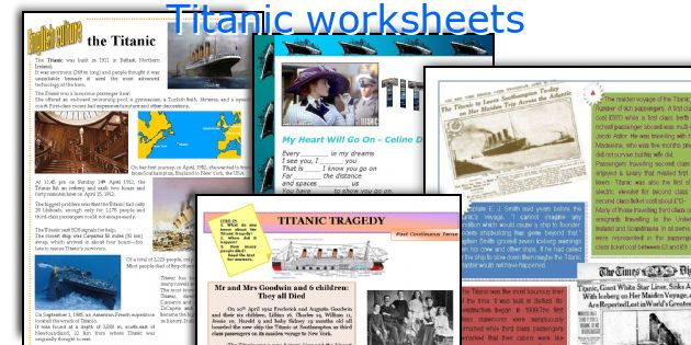 English teaching worksheets Titanic – Titanic Worksheets