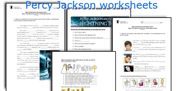Lightning Thief Worksheets - Samsungblueearth