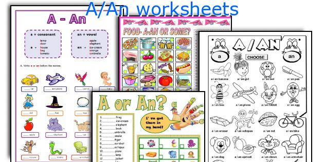 English teaching worksheets: A/An