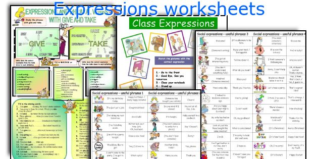 English teaching worksheets: Expressions