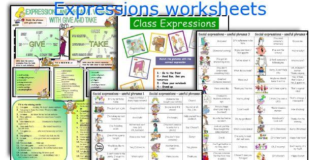 Idiomatic expressions worksheet pdf
