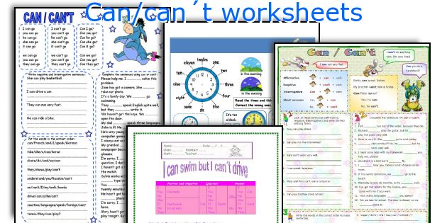 can can t worksheets worksheets and activities for teaching can