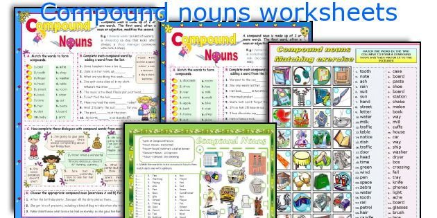 English teaching worksheets Compound nouns – Compound Nouns Worksheet
