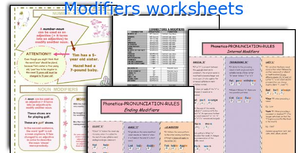 English teaching worksheets Modifiers – Dangling and Misplaced Modifiers Worksheet