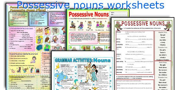 English teaching worksheets Possessive nouns – Possessive Nouns Worksheets