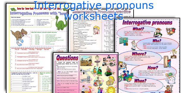 English teaching worksheets Interrogative pronouns – Interrogative Pronouns Worksheet