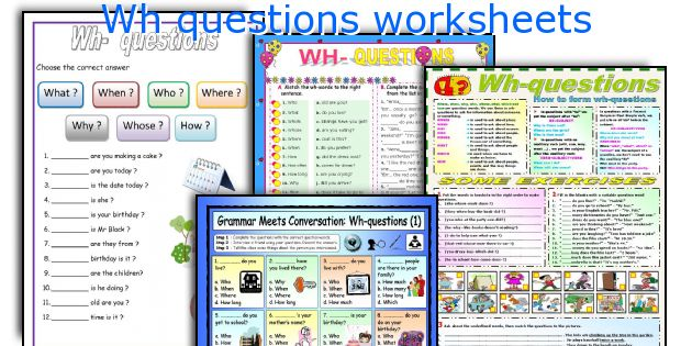 English teaching worksheets Wh questions – Wh Questions Worksheet