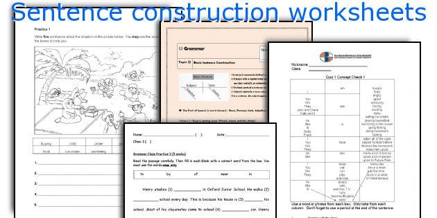 English teaching worksheets Sentence construction – Esl Worksheets Pdf