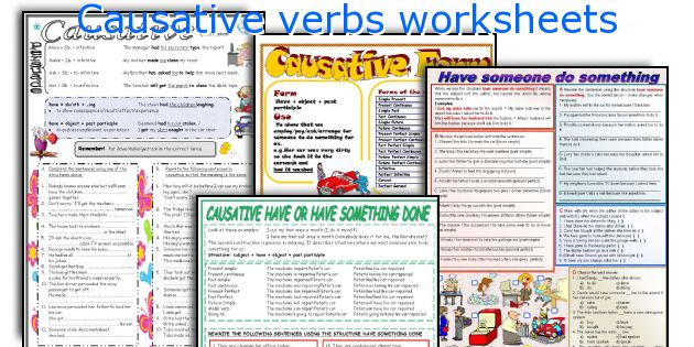 how to teach causative verbs