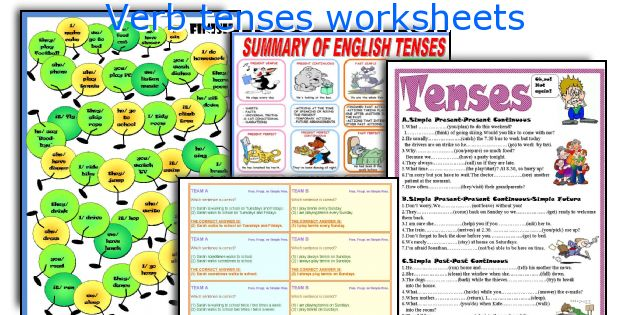 English teaching worksheets Verb tenses – Verb Tenses Worksheet