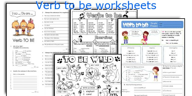 verb to be worksheets pdf