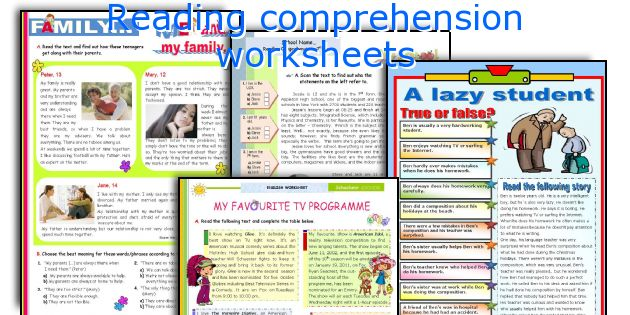 Free reading comprehension worksheets for 5 year olds