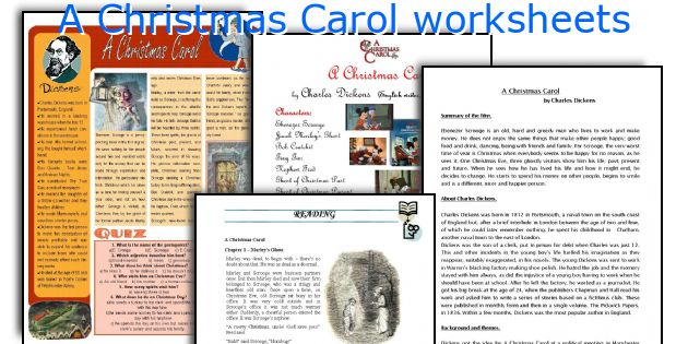 Worksheet. English teaching worksheets A Christmas Carol