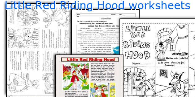 English teaching worksheets Little Red Riding Hood