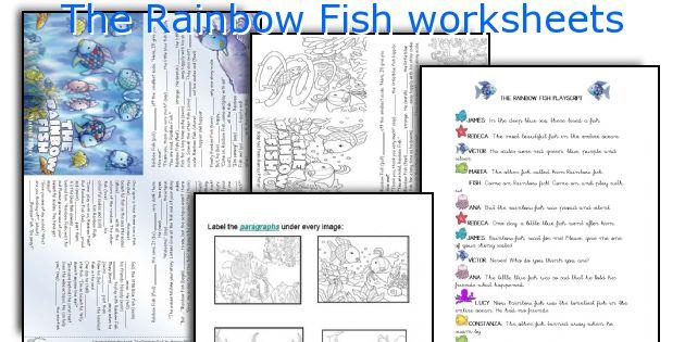 English teaching worksheets The Rainbow Fish – Rainbow Fish Worksheets