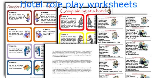 Worksheets Play Teacher Worksheets english teaching worksheets hotel role play