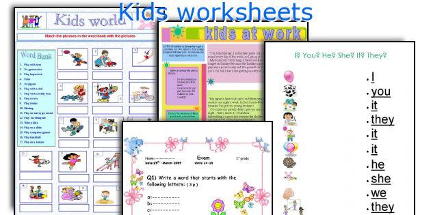 free worksheets worksheet for kids english free math worksheets for kidergarten and. Black Bedroom Furniture Sets. Home Design Ideas