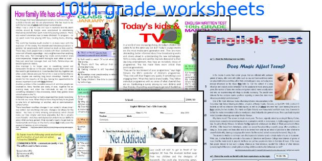 English teaching worksheets 10th grade – 10th Grade Vocabulary Worksheets