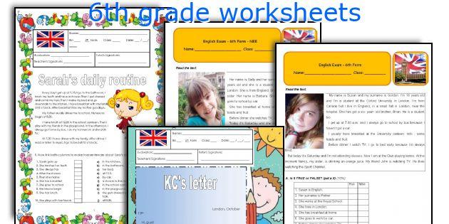 English worksheets 6th grade
