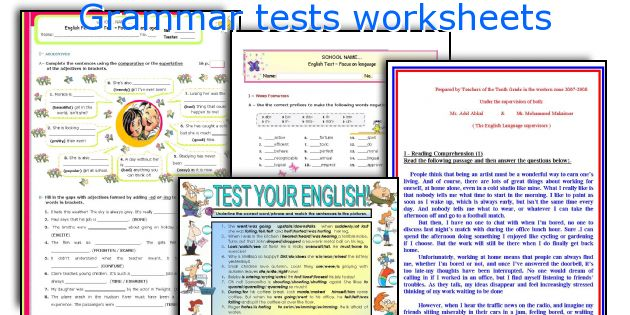 English teaching worksheets: Grammar tests
