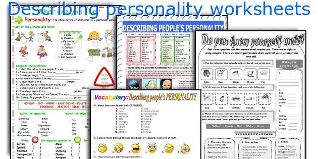 English teaching worksheets Describing personality – Johari Window Worksheet