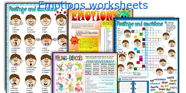 All Worksheets Feelings And Emotions Worksheets Printable – Feelings and Emotions Worksheets