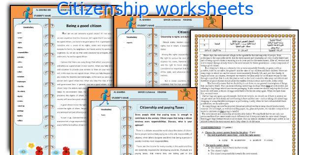 English teaching worksheets Citizenship – Being a Good Citizen Worksheet