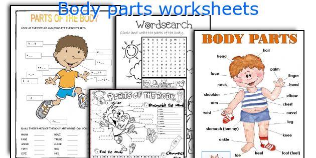 body parts worksheets. Black Bedroom Furniture Sets. Home Design Ideas