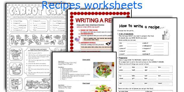 English teaching worksheets Recipes – Procedural Text Worksheets