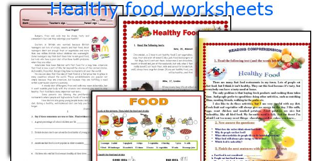 English teaching worksheets Healthy food – Healthy Food Worksheets