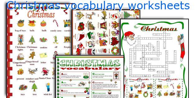 English teaching worksheets: Christmas vocabulary