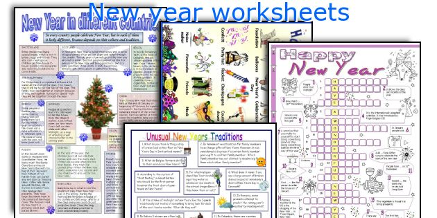 new year worksheets worksheets and activities for teaching new year