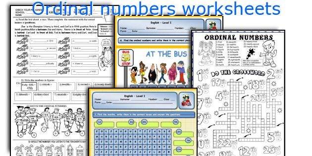 Ordinal Numbers Esl Adults - setiopolissurfer