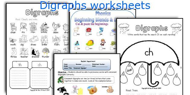 English teaching worksheets Digraphs – Vowel Digraphs Worksheets