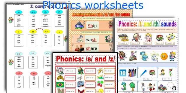 phonics worksheets worksheets and activities for teaching phonics to ...