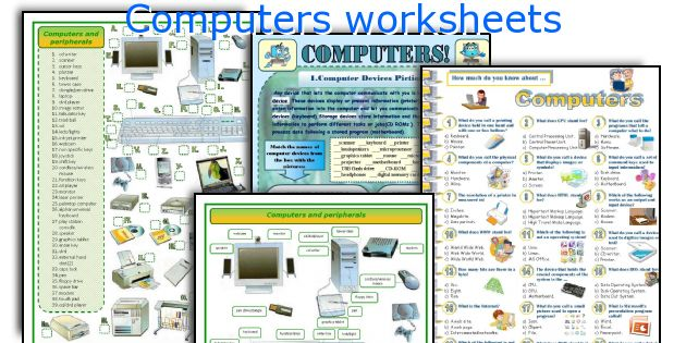 Worksheet For Computer : English teaching worksheets computers