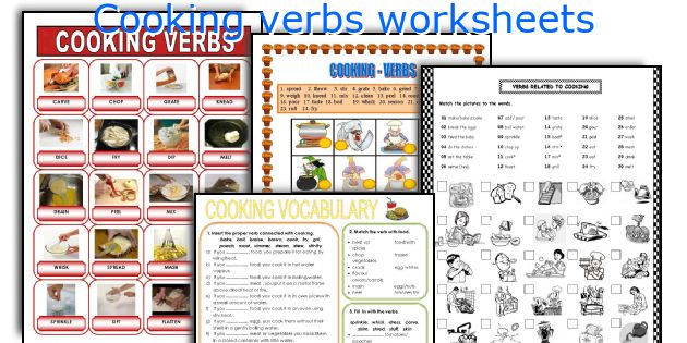 Cooking vocabulary worksheets pdf