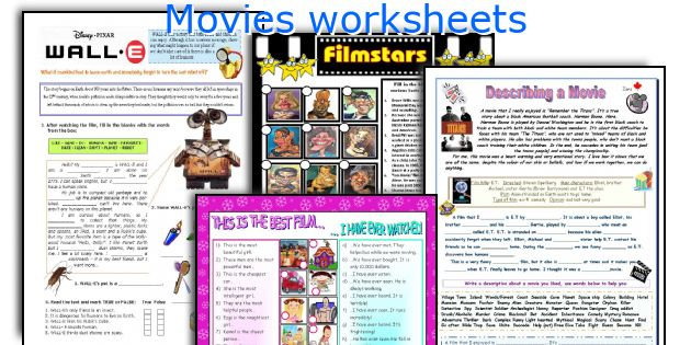 Movies worksheets