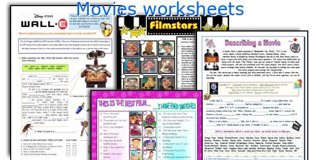 Movies worksheets