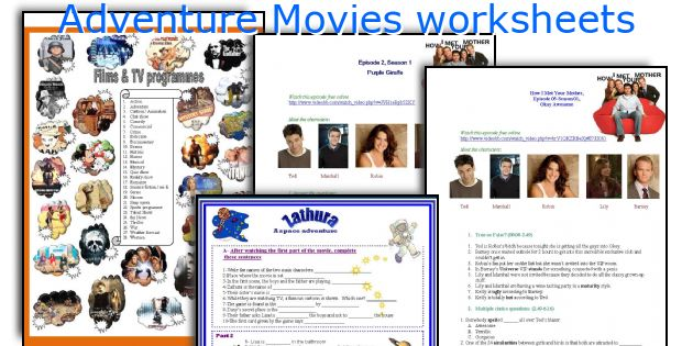 Adventure Movies worksheets