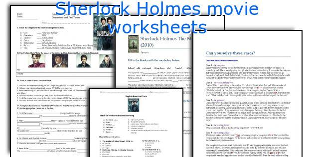 English teaching worksheets: Sherlock Holmes movie