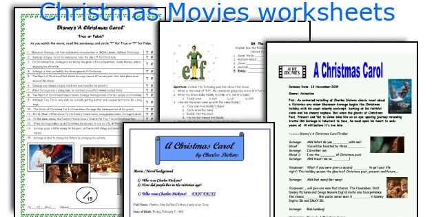 Christmas Movies worksheets