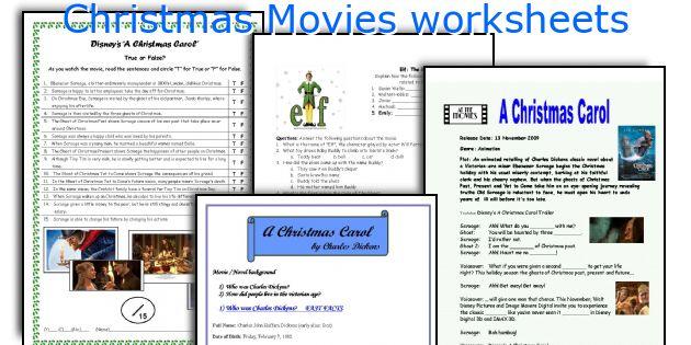 Christmas Movies worksheets
