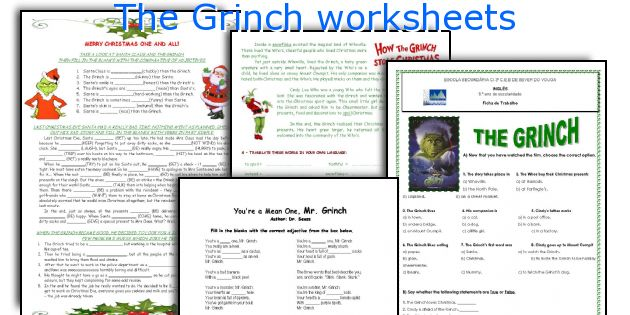 The Grinch worksheets