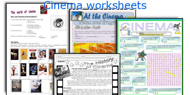 Cinema worksheets