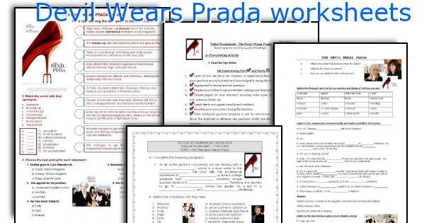 Devil Wears Prada worksheets
