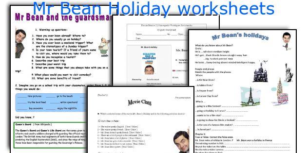 English teaching worksheets Mr Bean Holiday – Holiday Worksheets
