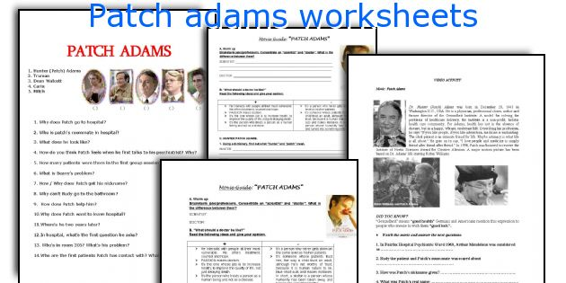 reflection to patch adams essay Below is an essay on patch adams from anti essays, your source for research papers, essays, and term paper examples the movie patch adams which was directed by tom shadyac, was based on a true story about a medical student who believes that a great amount of suffering can be relieved through laughter.