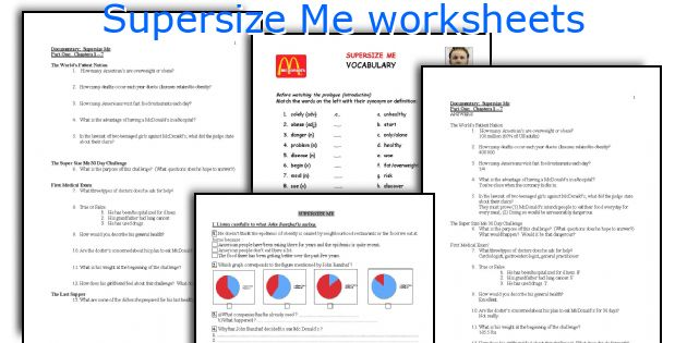 Worksheet Supersize Me Worksheet Answers english teaching worksheets supersize me worksheets