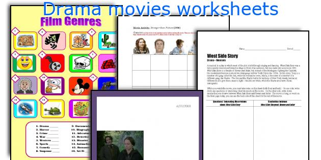Drama movies worksheets